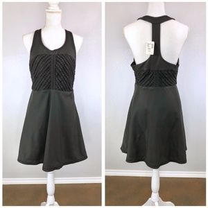 {FREE PEOPLE} NWT Faux Leather Fit & Flare Dress